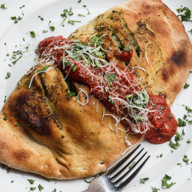 Louisiana Pizza Kitchen's Spinach & Sun-Dried Tomato Calzone