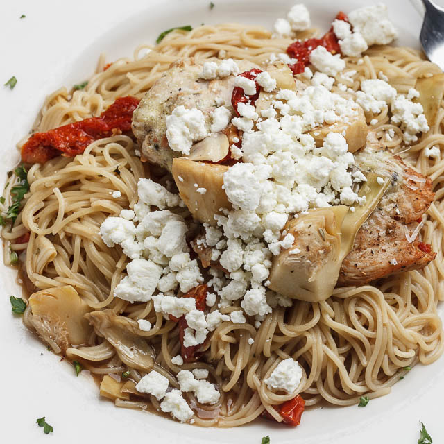 Louisiana Pizza Kitchen's Goat Cheese Chicken Pasta