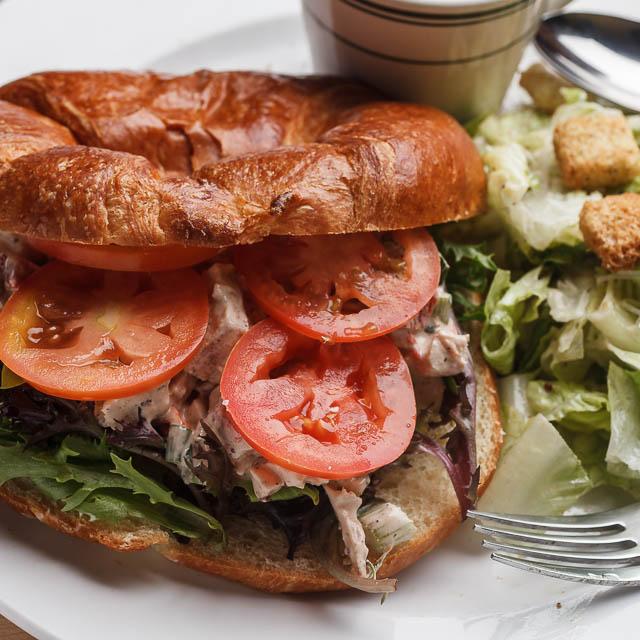 Louisiana Pizza Kitchen's Chicken Salad Croissant